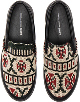 Comme des Garcons Knit Slip On Sneakers