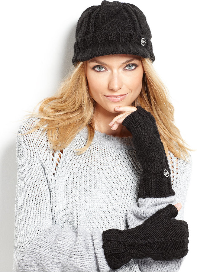 MICHAEL Michael Kors Cable Knit Arm Warmers Gloves