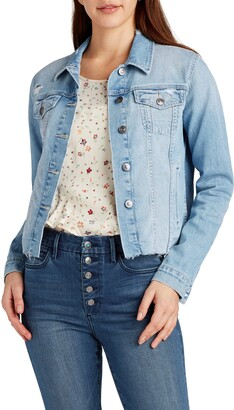Sam Edelman The Janis Crop Denim Trucker Jacket