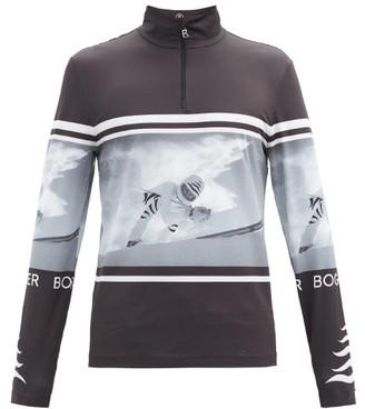Bogner Verti Skier-print Half-zip Thermal Top - Black