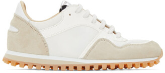 Spalwart White and Beige Marathon Trail Low WBHS Sneakers