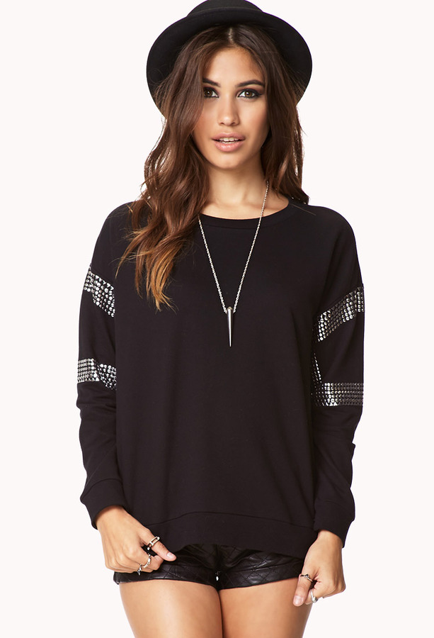 Forever 21 Studded Sweatshirt