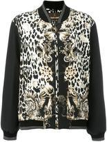 Roberto Cavalli leopard print bomber jacket