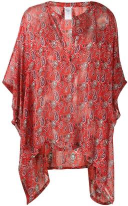 Zadig & Voltaire Paisley Print Silk Tunic Top