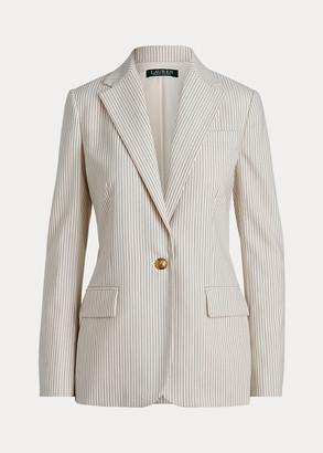 Ralph Lauren Striped Wool-Blend Blazer