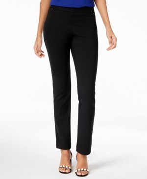 INC International Concepts Inc Petite Curvy-Fit Straight-Leg Pants, Created for Macy's