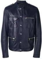 Lanvin press stud leather jacket