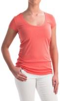 Allen Allen Scoop Neck T-Shirt - Short Sleeve (For Women)