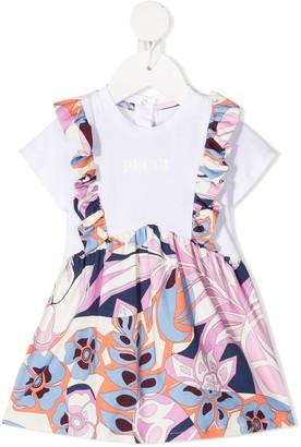 Emilio Pucci Junior Floral Print Pinafore Dress