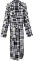 The Elder Statesman checked belted coat