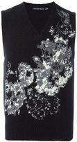 Alexander McQueen floral intarsia tank top