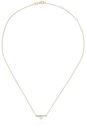 Mateo 14kt Gold And Diamond Bar Necklace