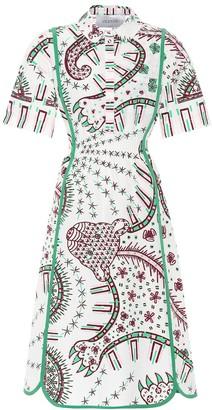 Valentino printed cotton dress