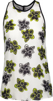 Milly Marie floral-print silk crepe de chine tank top