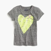 J.Crew Girls' two-sided sequin heart T-shirt