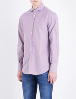 Brunello Cucinelli Checked basic-fit cotton shirt