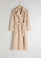 And other stories Belted Cotton Twill Trenchcoat