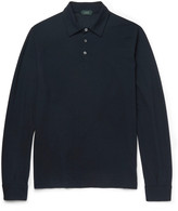 Incotex - Slim-fit Knitted Cotton Polo Shirt