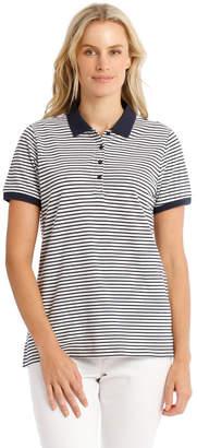 Regatta Short-Sleeve Yarn-Dye Striped Polo