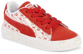Puma Baby Girl's & Little Girl's Hello Kitty Leather & Suede Sneakers