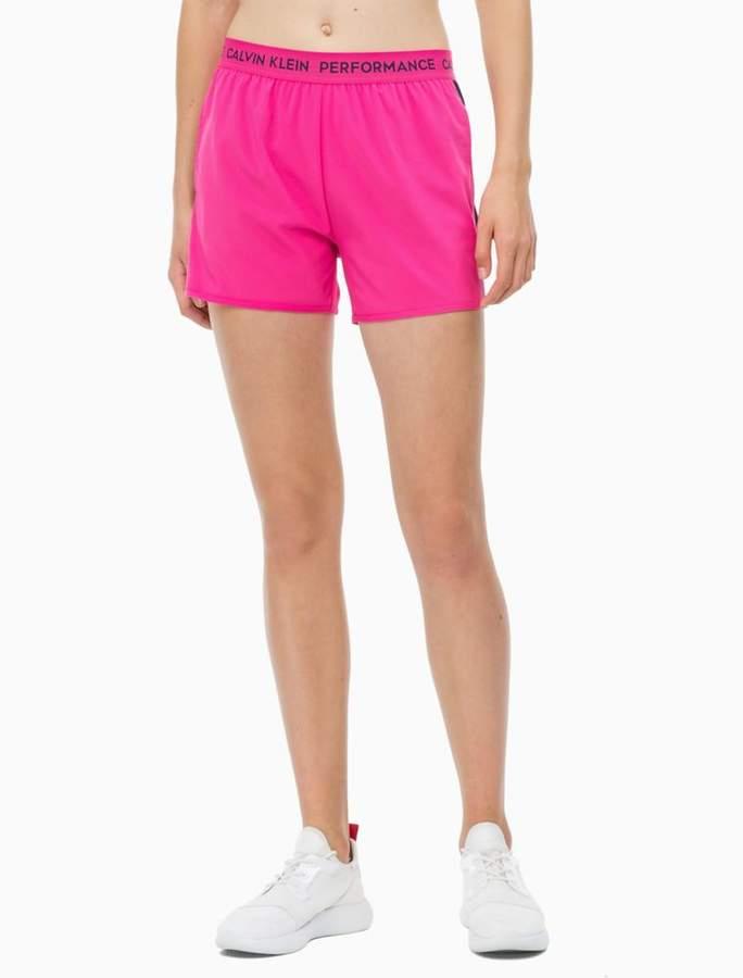 Calvin Klein logo stripe shorts