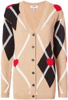 MSGM heart print cardigan