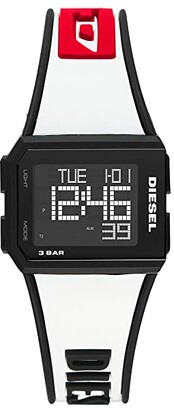 Diesel Chopped Digital Watch (Black) Watches
