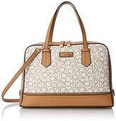 Calvin Klein 4 DB Logo Satchel Top-Handle Bag
