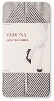 Merona Women's Sweater Tights Oatmeal Heather Diamond Rib