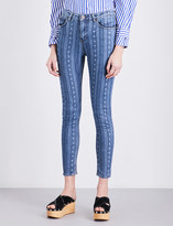 Sandro Star-print skinny mid-rise jeans
