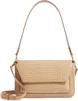 Nordstrom Stella Croc Embossed Leather Shoulder Bag