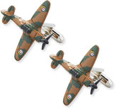 Link Up Enameled Camo Airplane Cuff Links