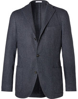 Boglioli Unstructured Wool, Cotton And Cashmere-blend Blazer - Blue