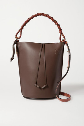 Loewe Gate Woven Leather Bucket Bag - Taupe