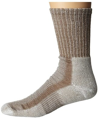Thorlos Light Hiking Crew Single Pair (Walnut) Men's Crew Cut Socks Shoes