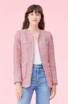 Rebecca Taylor Pink Tweed Jacket