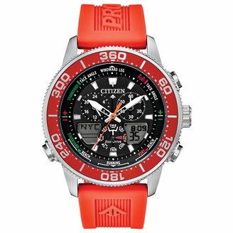 Citizen Men's Top of Water Stainless Steel Quartz Diving Watch with Rubber Strap
