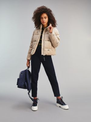 Tommy Hilfiger Corduroy Relaxed Fit Puffer Jacket