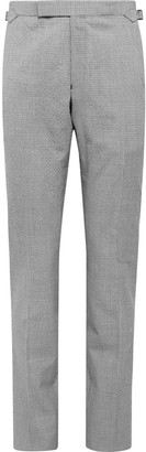 Richard James Spirit Slim-Fit Puppytooth Wool And Cotton-Blend Suit Trousers