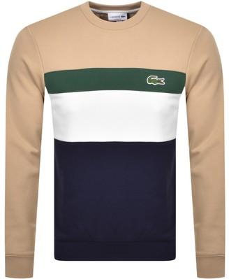 Lacoste Colour Block Sweatshirt Beige