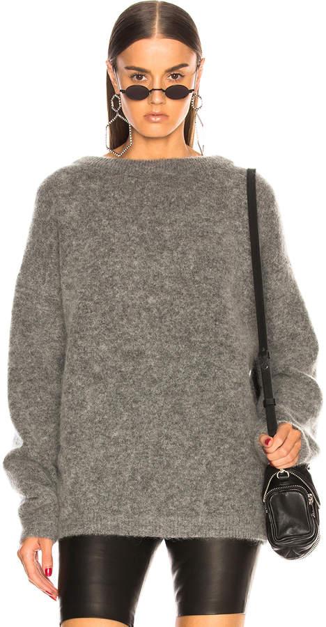 Acne Studios (アクネ ストゥディオズ) - Acne Studios Dramatic Mohair Sweater in Grey Melange | FWRD
