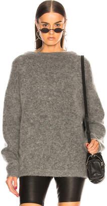 Acne Studios Dramatic Mohair Sweater in Grey Melange | FWRD