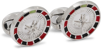 Deakin & Francis Roulette Wheel Sterling Silver and Enamel Cufflinks - Men - Silver
