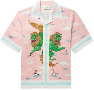 Casablanca Camp-Collar Printed Silk-Twill Shirt