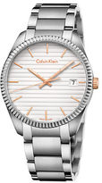 Calvin Klein Mens Swiss Alliance Striped Dial Stainless Steel Bracelet Watch