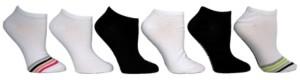 Steve Madden Women's Star Stripe Low Cut Socks, Pack of 6