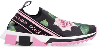 Dolce & Gabbana Sorrento Knitted Slip-on Sneakers