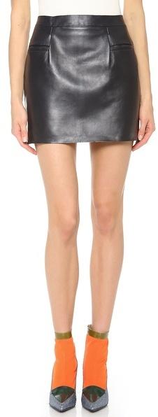 J.W.Anderson Leather Miniskirt