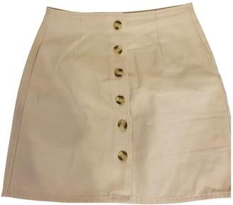 Asos Beige Cotton - elasthane Skirt for Women