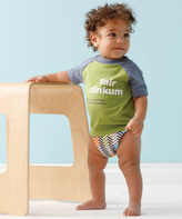 gDiapers Green & Blue 'Fair Dinkum' Tee - Infant & Toddler
